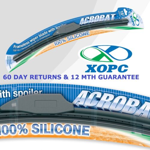 "16/"" 410 mm /& 18/"" 450 mm xopc Acrobat Extreme 100/% silicone Balais d/'essuie-glace AERO FLAT"
