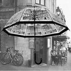 Transparent Manual Open Rain Umbrella Clear Windproof Dome 8 Ribs Curved Handle
