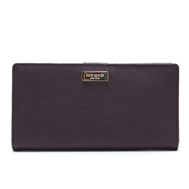 c38fe5f1f04f Kate Spade Stacy Laurel Way Leather Wallet Mahogany 902 Wlru2673 for ...