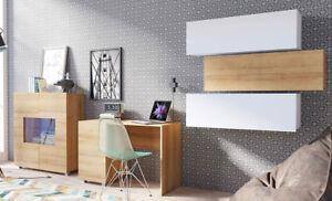 Details zu Schlafzimmer-Set Gothem XV Hängeschrank Kommode Hochglanz Design  Schreibtisch