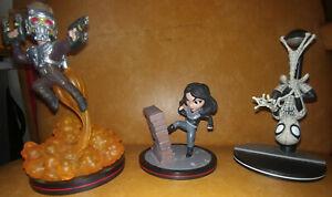 MARVEL Q-FIG Figurines: STAR-LORD; JESSICA JONES; SPIDER-MAN (LOT)