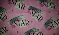 Personaloze Glam Pink Hollywood Star Diamonds Dog Puppy Car Bed Crate Mat 18x24