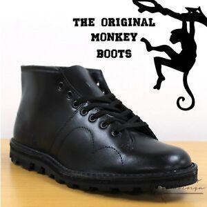 Grafters-The-Original-Monkey-Boots-Men-039-s-Women-039-s-amp-Kids-Retro-60-039-s-Black-Shoes