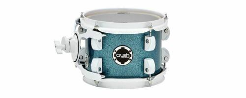 "Crush Drums Chameleon Complete 8/"" Mounted Tom//Light Blue Sparkle//Finish #914//NEW"