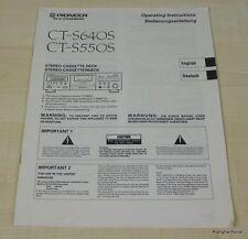 Pioneer CT-S550S / CT-S640S Bedienungsanleitung Deutsch / Englisch