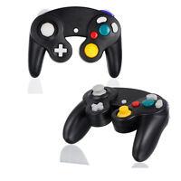 2 Gamecube Controller Black Shock Gamepad For Nintendo Gamecube Gc Wii