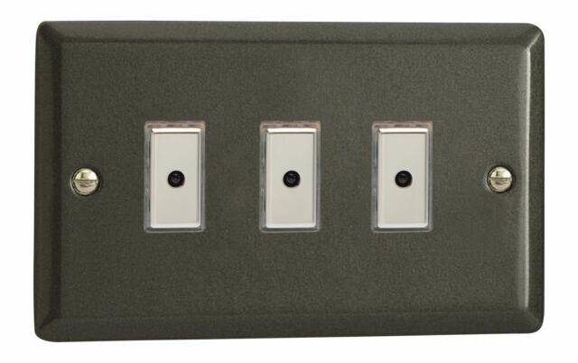 Varilight JPE103 Graphite 21 3 Gang V-Pro Remote/Touch Master LED Dimmer 0-100W