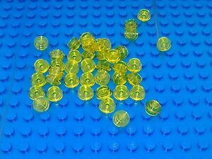 30 X Lego 4073 Plate TRANS RED Free P /& p Round 1 x 1 Straight Side