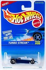 Hot Wheels #470 Turbo Streak Blue 5SP's 1996 New On Card