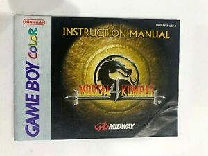 Mortal Kombat 4 Original Nintendo Gameboy Color Instruction MANUAL ONLY Booklet