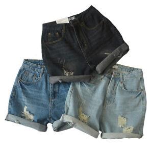 Women-039-s-Vintage-Distressed-High-Waist-Denim-Shorts-Australia-Ripped-RRP-35