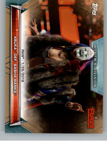 Auto or Mat Relics Pick From List 2019 Topps WWE Women/'s Division Bronze Base