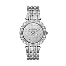 Michael Kors Women's Darci Silver Monogram Women's Watch MK3404