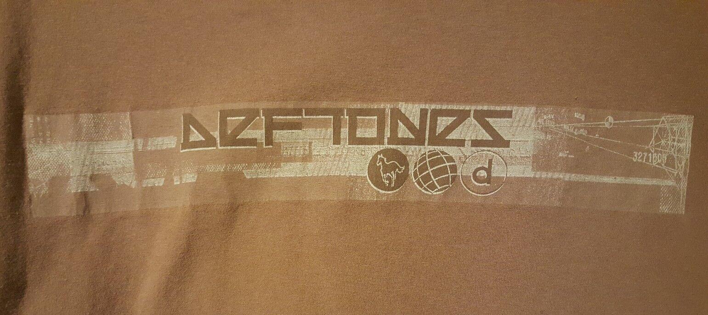 Deftones PRE-OWNED Größe XL Braun T-Shirt GIANT tag