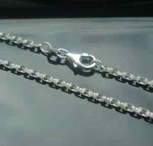 Ankerkette Aus Echtem 925 Er Silber 2 Mm 50 Cm Kette Silberkette Auswahlmaterialien