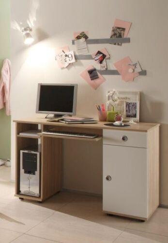 TINA Schreibtisch Kinderschreibtisch fürs Kinderzimmer Sonoma Eiche Weiß Dekor