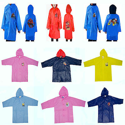 Disney /& Kids TV Movie Character Rain Hooded Raincoat Jacket Brand New Gift