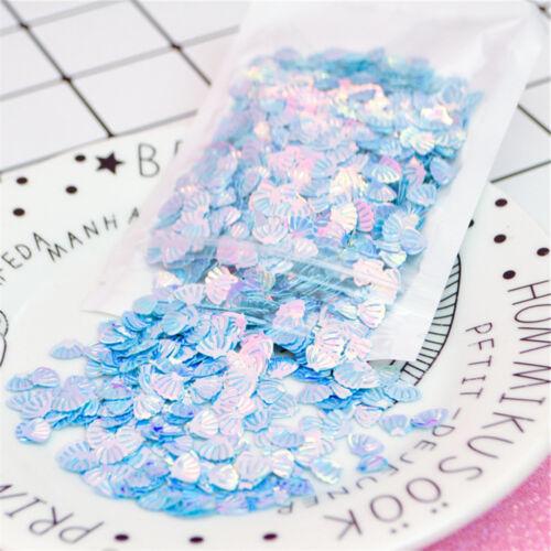 20 gram Multi-colors Tiny Fan Shell Shaped Sequins Nail Art Wedding Crafts Decor