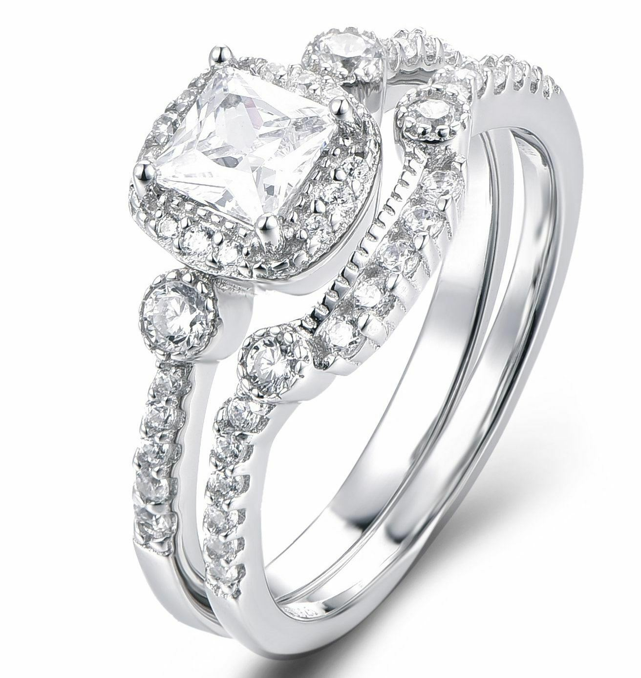 cz wedding band engagement rings set women size 3 12 ss2193 affcart