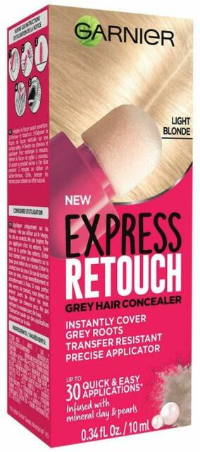 ( Set of 3 ) Garnier Express Retouch Hair Root Cover Light Blonde  10 ml