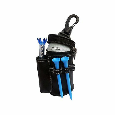Golfoy Golf Balls & Tee Holder Pouch - Black (Avail COD)