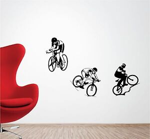 Wall decal  Cycling sticker  Mountains  Bicycle and Mountains  Wall sticker  Bike sticker  Gift for cyclist  Bicycle decor