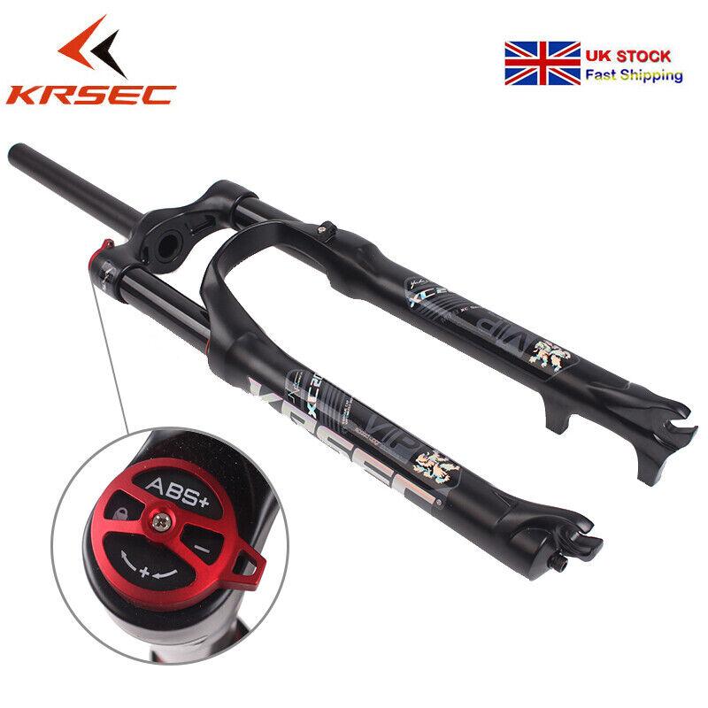 KRSEC 26 27.5 29  Suspension Fork 1-1 8  MTB Bike Disc Brake 120mm Travel Fork