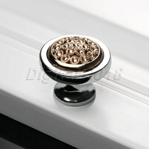 Modern Rose Gold Door Knob Kitchen Cabinet Dresser Cupboard Drawer Pull Handles