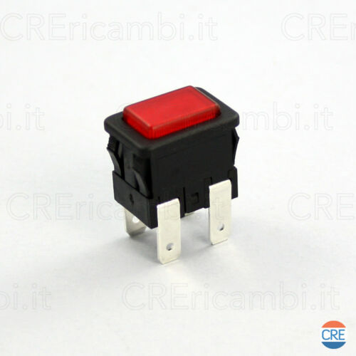 Interruttore Luminoso Rosso per Vaporella POLTI M0006009