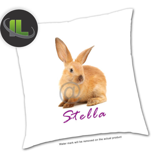 Personalised Rabbit Animal Cushion Cover.Personalise with your own text-ILVC1077