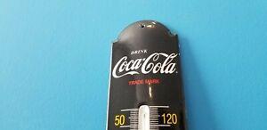 VINTAGE-COCA-COLA-PORCELAIN-DRINK-SODA-POP-GAS-BEVERAGE-COKE-SIGN-THERMOMETER