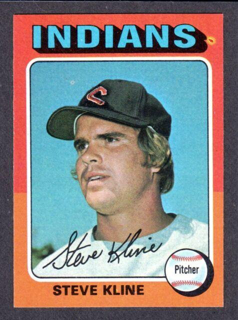 1975 TOPPS LARGE #639 Steve Kline  CLEVELAND INDIANS  EX-MINT+ ( Centered ) B