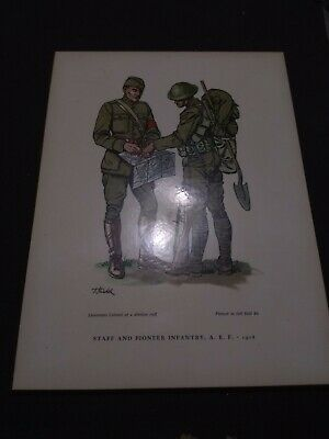 Staff And Pioneer Infantry A E F 1918 Military In America Print By F Kredel Ebay