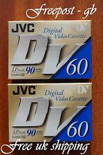 2 X JVC DVM-60 MINI DV DIGITAL CAMCORDER TAPES / CASSETTES SUPERB QUALITY