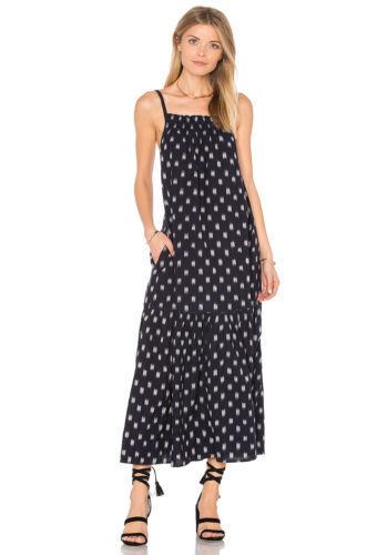 Current Xs midi elliott 172344 Ikat jurk The New Holly Dotted gesmokte 2 Navy 65gqPgp