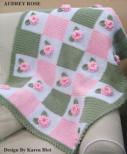 Victorian audrey rose baby crochet afghan pattern 3 d ebay image is loading victorian 039 audrey rose 039 baby crochet afghan dt1010fo