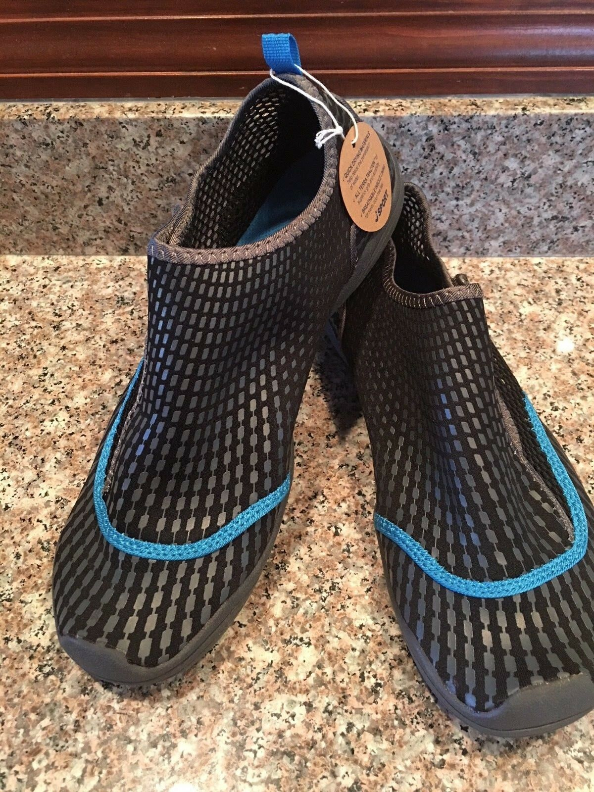 WOMEN'S JSPORT JAMBU MERMAID WATER ATHLETIC SHOES BLACK blueE 8 8 8 8.5 9 NEW w  TAG 3a44fd