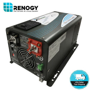 Details about Renogy 1000W 12V Pure Sine Wave Inverter Charger DC AC  Battery Power Converter