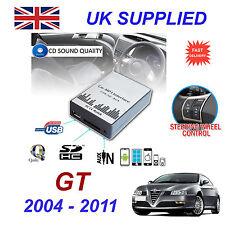 ALFA ROMEO GT mp3 USB SD CD AUX Input Adattatore Audio Digitale Caricatore CD Modulo