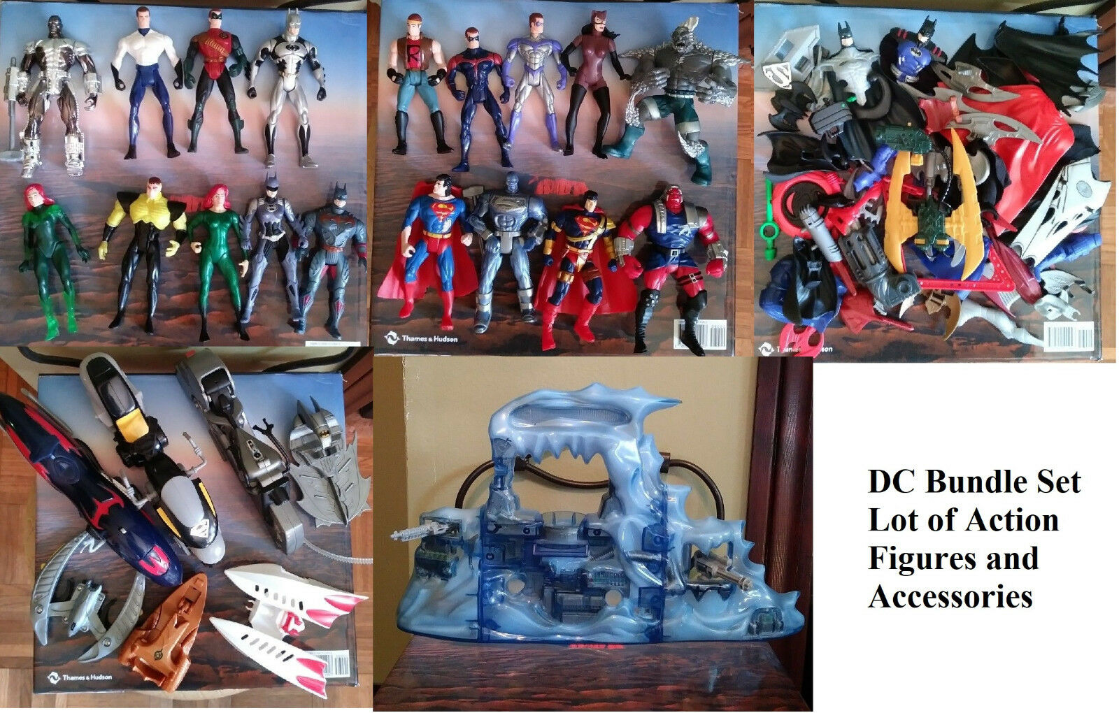 Batman Figure Set Superman Figures Bundle with Batman Playset DC Figure Lot