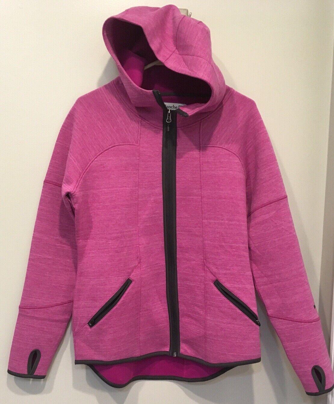 Avalanche Ladies Women's Full Zip Knit Jacket Purple Hood Hooded Large L
