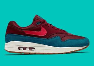 official photos 7d587 38471 Details about New Nike Men s Air Max 1 Shoes (AH8145-601) Team Red Red Orbit -Green Abyss-White