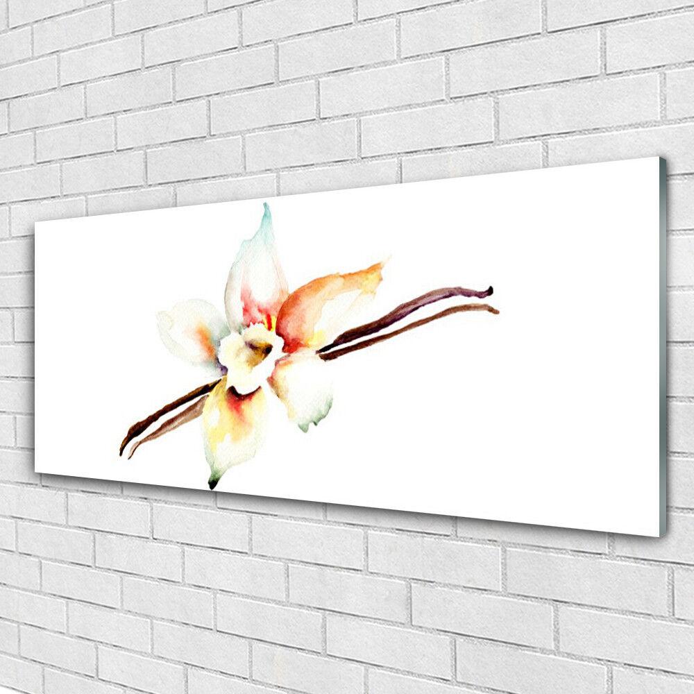 Cadeau de noel Tableau murale Impression verre sous verre Impression 125x50 Art Fleur 5f4b23