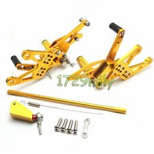 CNC Adjustable Rearset Foot Rest Pegs For Yamaha YZF R1 07-08 2007 2008 Gold