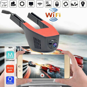 Wireless-1080P-Hidden-WiFi-Car-DVR-Vehicle-Video-Recorder-Dash-Cam-w-Rear-Camera