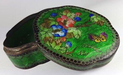 China Casket / Tin Brass Around 1850-1870 Al532 Enamel