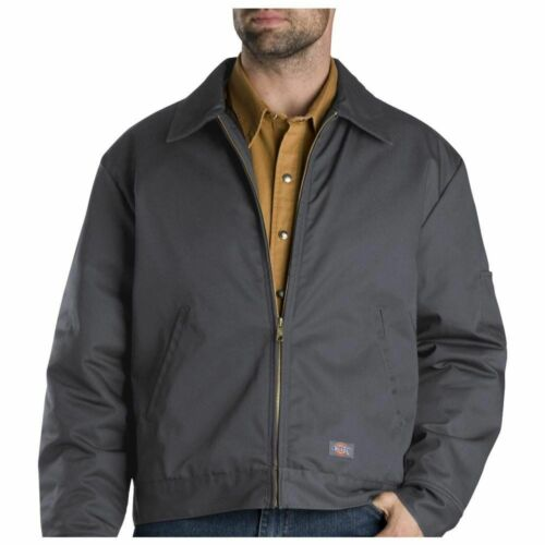 DICKIES TJ15 LINED EISENHOWER MENS WORK JACKET//COAT CHARCOAL  LAUNDRY FRIENDLY