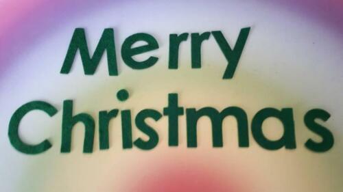 verde Navidad adorno de artesanía Feliz Navidad Letras de fieltro