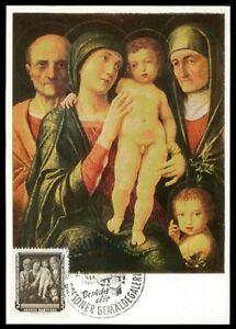 DéVoué Rda Mk 1957 Galerie De Peinture Dresde Art Painting Carte Maximum Maxi Card Mc Ac11-afficher Le Titre D'origine Bonne RéPutation Sur Le Monde