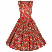 Lindy Bop 'Audrey' Floral Vintage Inspired 1950's Swing Jive Party Dress